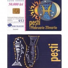 CARTELA ROMANIA ROMTELECOM ZODII - PESTI - PENTRU COLECTIONARI ** - Cartela telefonica romaneasca