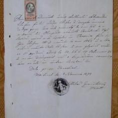 Marturie de vestiri, Bucovina, 1878 - Hartie cu Antet