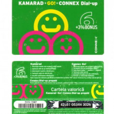 CARTELA ROMANIA CONNEX KAMARAD 6 USD + 3 % - PENTRU COLECTIONARI ** - Cartela GSM