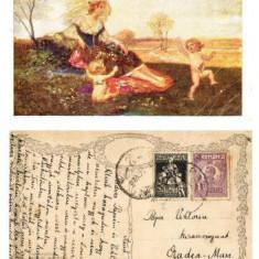 ILUSTRATA VECHE NR. 14 din 1925 - THE JOYS OF SPRING - BUCURIA PRIMAVERII **, Circulata