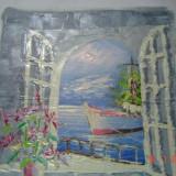 """Ulei pe panza superb pictat semnat ,,Nicos"""" adus din Cipru"""