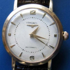 * Ceas LONGINES 1952 automatic - gold filled 80 microni - Ceas barbatesc Longines, Elegant, Mecanic-Automatic, Placat cu aur, Piele, Analog