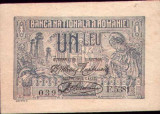* Bancnota 1 leu 1920