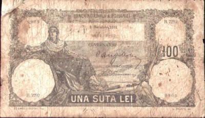 * Bancnota 100 lei 1931 foto