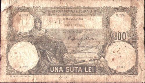 * Bancnota 100 lei 1931