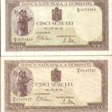 * Lot bancnote 500 lei 1941 aprilie, iulie - Bancnota romaneasca