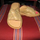 Papuci dama 1, Bej, Marime: 38