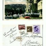 CP107 -11-Sinaia -Castelul Peles cu terasa din fata -tipar 1936