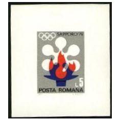 Romania 1971 - J.O. DE IARNA SAPPORO 1972, colita nestampilata, D24