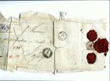 A Doc 36 -Plic catre Printesa Ghyka -1895? -trei sigilii ceara