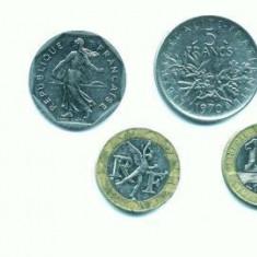 Minicolectie de monede FRANTA (102 bucati)