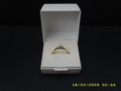 Inel de logodna cu briliant foto