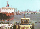 V37 Nave in portul Galati circulat 1987