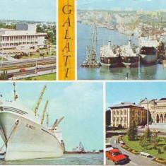 V45 Nave in portul Galati circulat 1979