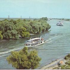 V61 Vaporase cu turisti in Delta circulat 1983