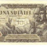Bnk bn romania 100 lei 27 aug 1947 - Bancnota romaneasca