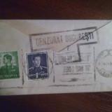 Plic cenzurat Bucuresti 12 .04.1942, contine felicitare de Paste