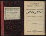 Statutele Bancii Populare Parghia , com. Tamasesti , jud. Vlasca , 1911