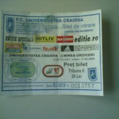 + Bilet tribuna II meci U.Craiova - Unirea Urziceni 17.04.2009 + - Bilet meci