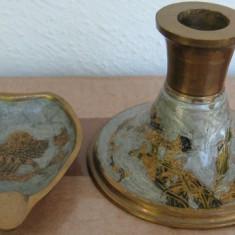 Sfesnic si scrumiera din bronz