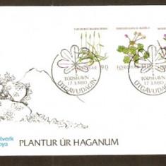 FDC - Feroe (Danemarca) 1980 - 2 Plicuri prima zi cu FLORI - Plic Papetarie