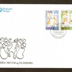 FDC - Feroe (Danemarca) 1982/86-89 - 2 Plicuri prima zi - Plic Papetarie