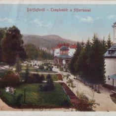 B407 Baila Bartfa Ungaria circulat 1917 timbru dezlipit