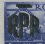 RFL 1948 ROMANIA timbru Mihai I Vederi 5 Lei - eroare cu sursarj RPR dublu neuzata