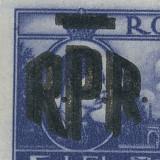 RFL 1948 ROMANIA timbru Mihai I Vederi 5 Lei - eroare cu sursarj RPR dublu neuzata - Timbre Romania