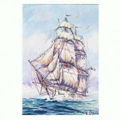 CP153-74 Mircea, prima nava scoala 1882 -Navrom -necirculata