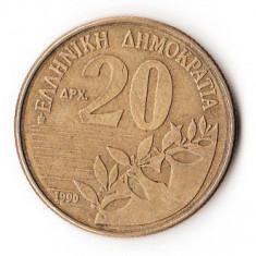 GRECIA 20 DRAHME 1990