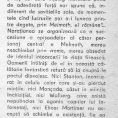 Charles robert maturin - melmoth ratacitorul - Roman, Anul publicarii: 1983