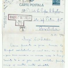 CP156-03 Cenzurata -de la Inf.cu cai ? la Braila -circulata1942