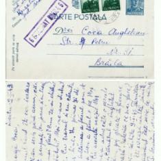 CP156-07 Cenzurata -de la Rusetu -la Braila -circulata1943