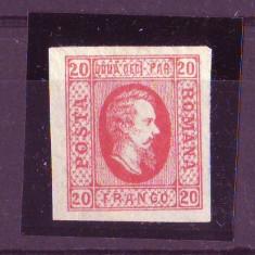 1865 L.P.17 Cuza in oval conditie ** - Timbre Romania