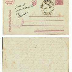 CP156-70 Militara -cenzurata -com. Visenesti -circulata1940