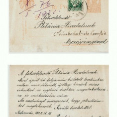 CP157-35 Kolozsvar (Cluj) 1922 IX 16 -Sambodul-de-Campie? - Carte Postala Transilvania dupa 1918