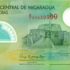 NICARAGUA █ bancnota █ 10 Cordobas █ 2007 █ P-201a █ POLYMER █ UNC █ necirculata