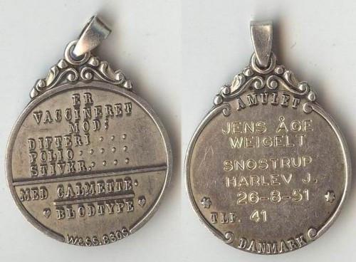 Medalion din argint, medical foto mare
