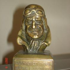 STATUETA BRONZ WW I PILOTUL RICHTOFEN - Sculptura