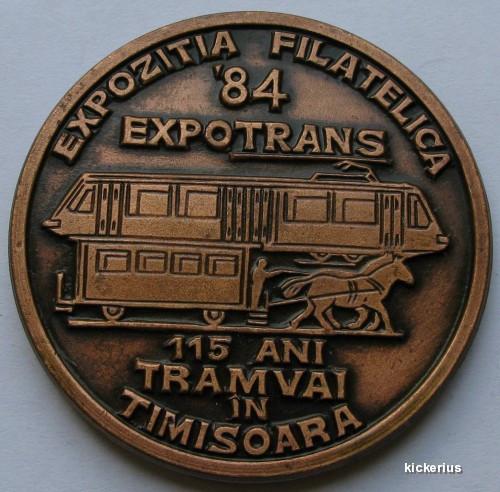 Expozitia filatelica 1984 - 115 ani tramvai in Timisoara