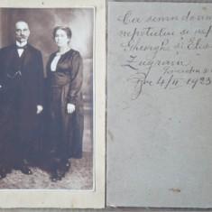 Foto pe carton , Familie din Bucuresti , 1923