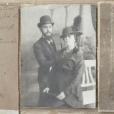 2 foto pe carton , Romani din Rahova , 1924