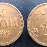 ~S~ 5 Pennia 1866 Finlanda