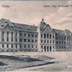 TURDA LICEUL FERDINAND 1922 - Carte Postala Transilvania dupa 1918