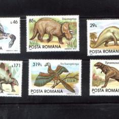 ROMANIA-1993 ANIMALE PREISTORICE LP 1319 - Timbre Romania
