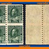 1922 CANADA King George V Admiral 2c bloc de 4 neuzat mnh, Regi, Nestampilat