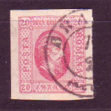 1865 L.P. 17 Cuza in oval stampilat - Timbre Romania