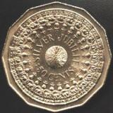 Australia 50 CENTS 1977 12 laturi  moneda mare 31,5 mm Jubiliara SILVER JUBILEEa.UNC/UNC (1)