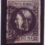 1867 L.P. 20c Favorit stampilat - Timbre Romania